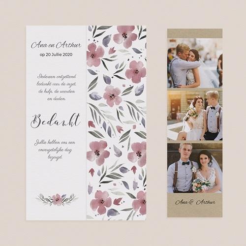Bedankkaarten huwelijk Heerlijk romantisch pas cher