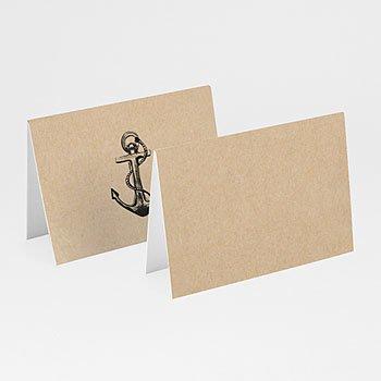 Tafelkaartjes huwelijk - Kraft anker - 0