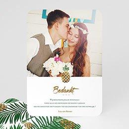 Bedankkaarten huwelijk - Pineapple & palm tree - 0
