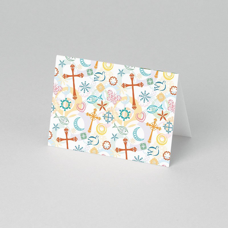 Tafelkaartjes Communie Tussen de symboliek pas cher