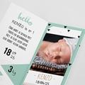 Geboortekaartje jongen - Origami Boy 53002 thumb