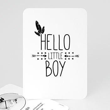 Geboortekaartje jongen - Indian Boy - 0