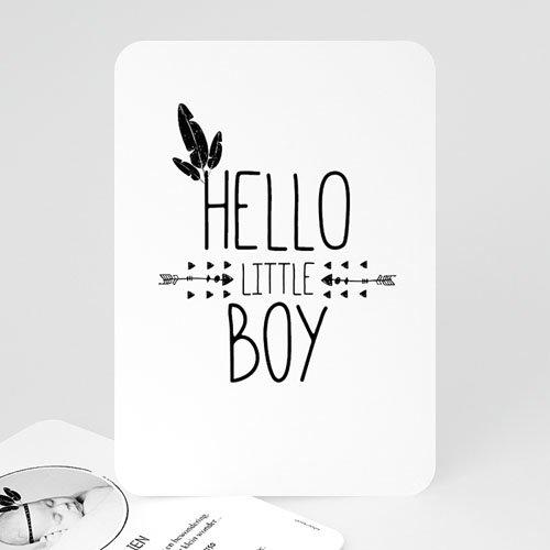 Geboortekaartje jongen - Indian Boy 53018 thumb