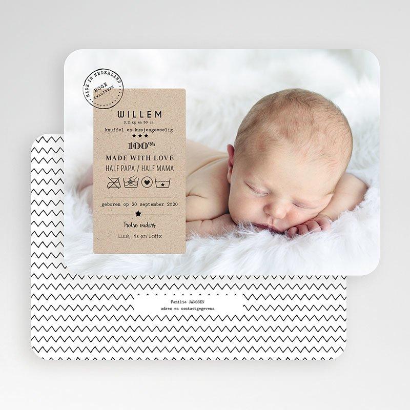 Geboortekaartje jongen - 100% Amour 53074 thumb