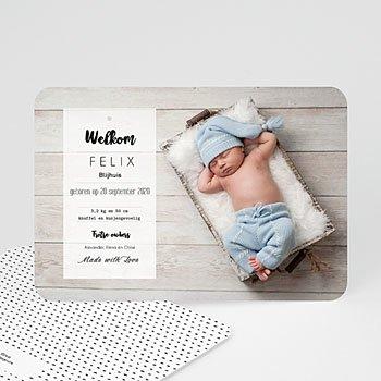 Geboortekaartje jongen - Met Liefde gemaakt - 0