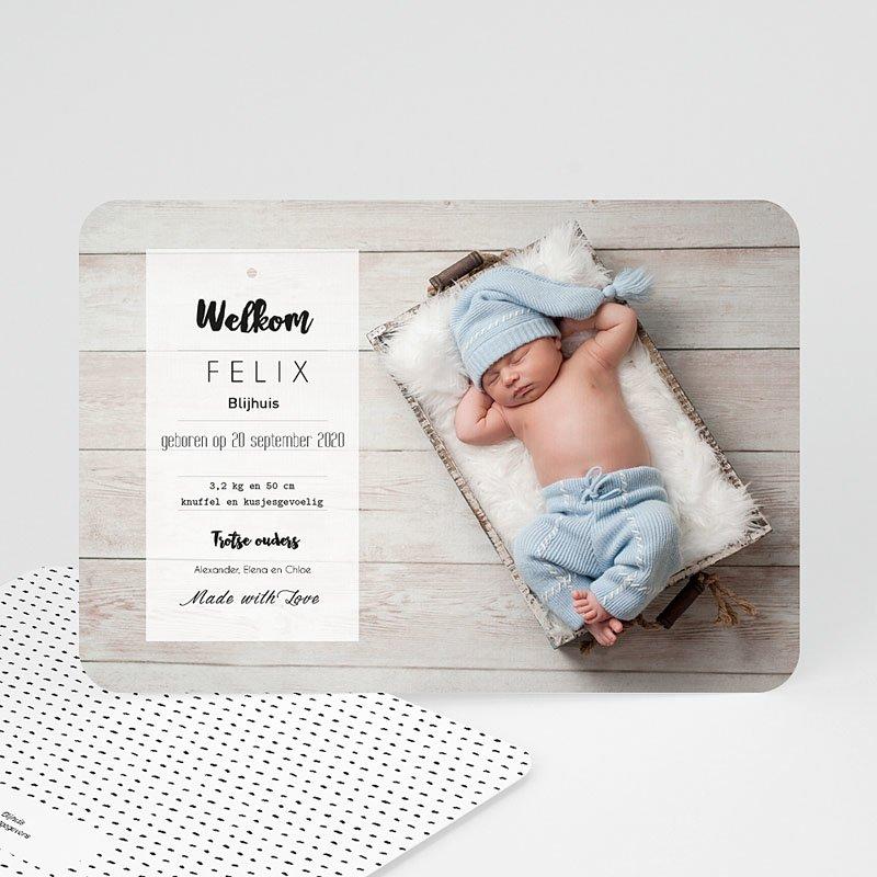 Geboortekaartje jongen - Met Liefde gemaakt 53081 thumb