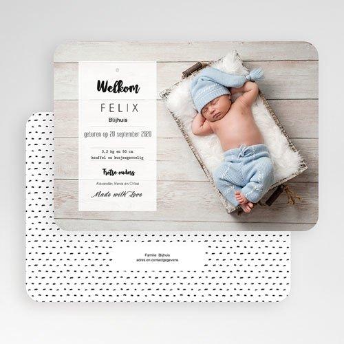 Geboortekaartje jongen - Met Liefde gemaakt 53083 thumb