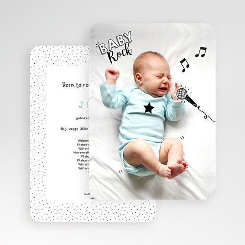 Originele geboortekaartjes - Rock star baby 53091 thumb