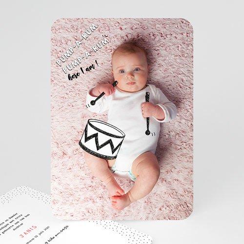 Originele geboortekaartjes - De kleine trom 53098