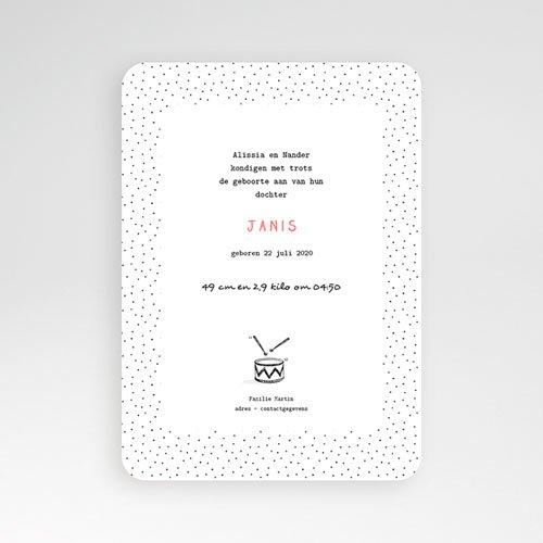 Originele geboortekaartjes - De kleine trom 53099 preview
