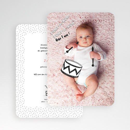Originele geboortekaartjes - De kleine trom 53100 preview