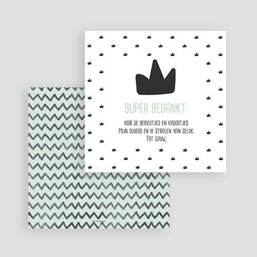 Bedankkaartje geboorte zoon - Little King 53109 thumb