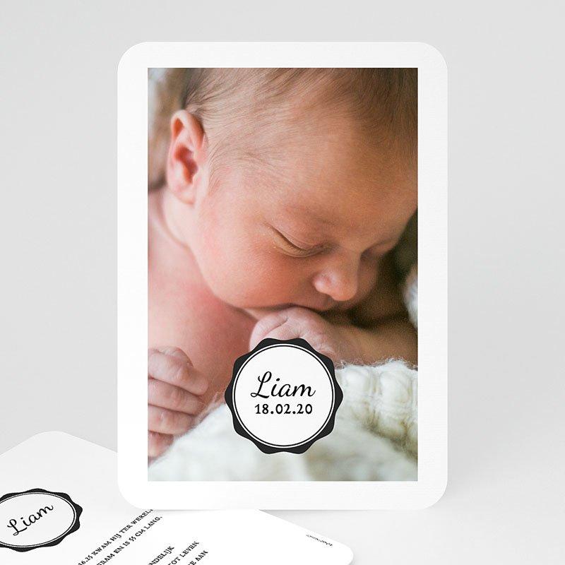 Geboortekaartje jongen - Vintage Look 53124 thumb