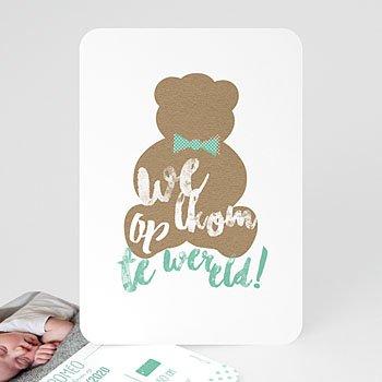 Geboortekaartje jongen - Teddy Bear Boy - 0