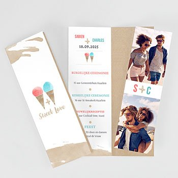 Personaliseerbare trouwkaarten - Sweet Love - 0