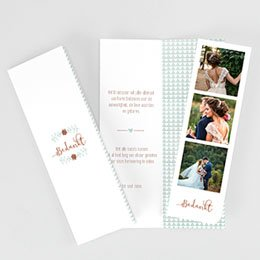 Bedankkaarten huwelijk Wedding Love Triangles