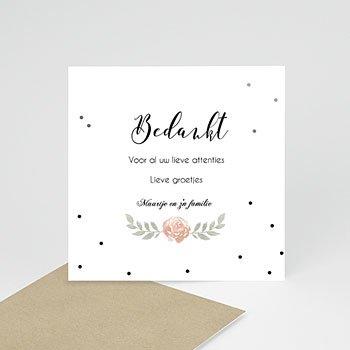 Bedankkaartje geboorte dochter - Vosje - 0
