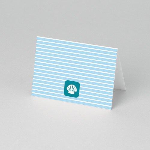 Tafelkaartjes Doop Blauw water pas cher