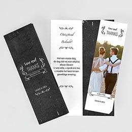 Bedankkaarten huwelijk - Leisteen en bedankt - 0