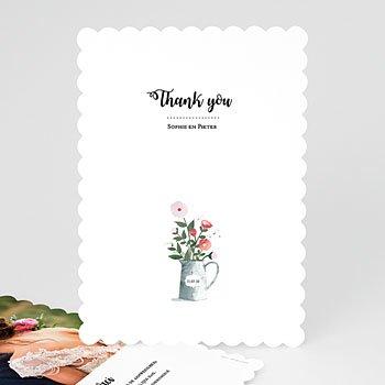 Bedankkaartjes huwelijk - Retro bloemen - 0