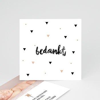 Bedankkaartje geboorte dochter - Sweet Origami - 0