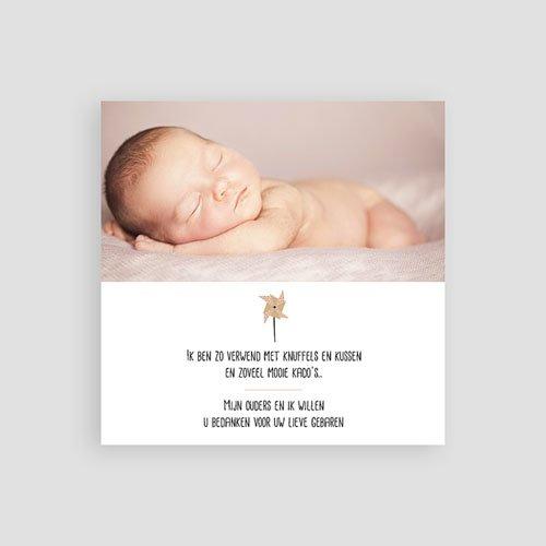Bedankkaartje geboorte dochter - Sweet Origami 53373 preview