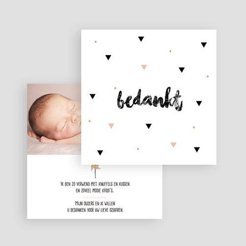 Bedankkaartje geboorte dochter - Sweet Origami 53374 preview