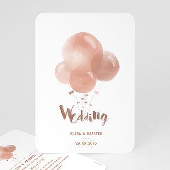 Personaliseerbare trouwkaarten - Waterverf ballonnen - 0