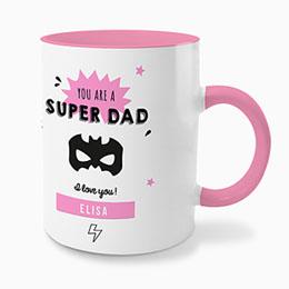 Gekleurde mokken Super vader