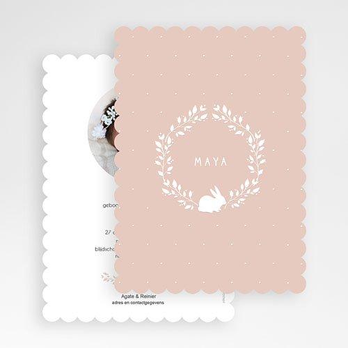 Geboortekaartje meisje - Retro konijn 53502 thumb