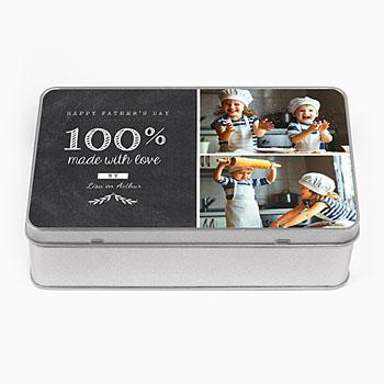 Personaliseerbare blikken doosjes - Papa Box - 0