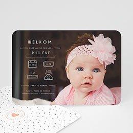 Geboortekaartje meisje - Presentatie - 0