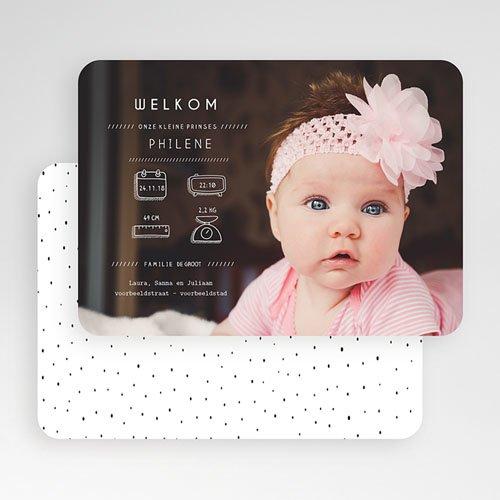 Geboortekaartje meisje - Presentatie 53563 preview