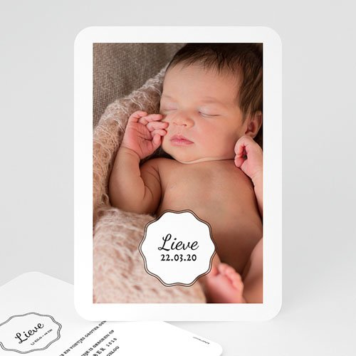 Geboortekaartje meisje - Vintage look Girl 53570 thumb