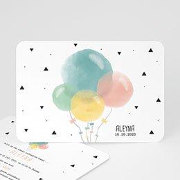 Aankondiging Geboorte Pastel ballonnen