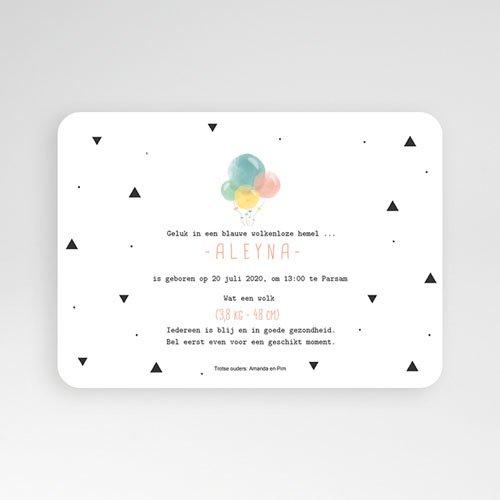 Geboortekaartje meisje - Pastel ballonnen 53579 thumb