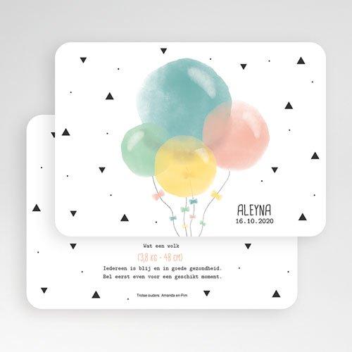 Geboortekaartje meisje - Pastel ballonnen 53580 thumb