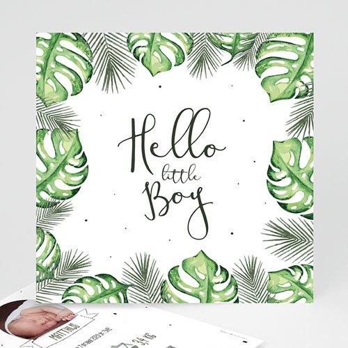 Geboortekaartje jongen - Tropical leaves 53623 thumb