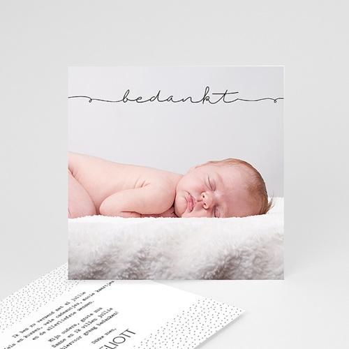 Bedankkaartje geboorte zoon - Inspiratie 53677 thumb