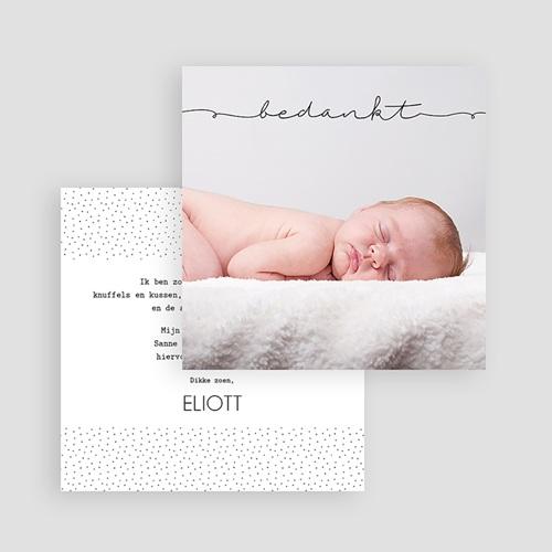 Bedankkaartje geboorte zoon - Inspiratie 53679 thumb