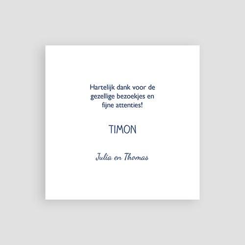 Bedankkaartje geboorte zoon - Matroos 53696 thumb