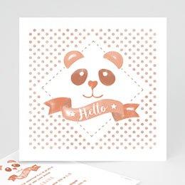 Geboortekaartje meisje - Panda waterverf - 0