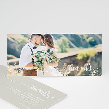 Bedankkaartjes huwelijk - Bedankt in wit - 0