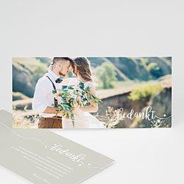 Bedankkaartjes huwelijk Bedankt in wit
