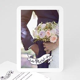 Bedankkaartjes Huwelijk Vintage Thanks