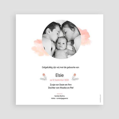 Geboortekaartje meisje - Pinguin 53822 thumb