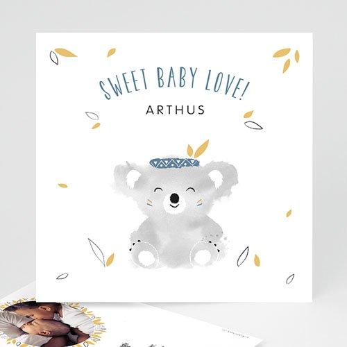 Geboortekaartje jongen - Koala blauw 53830 thumb