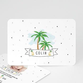 Geboortekaartje jongen - Palmbomen en ananassen - 0