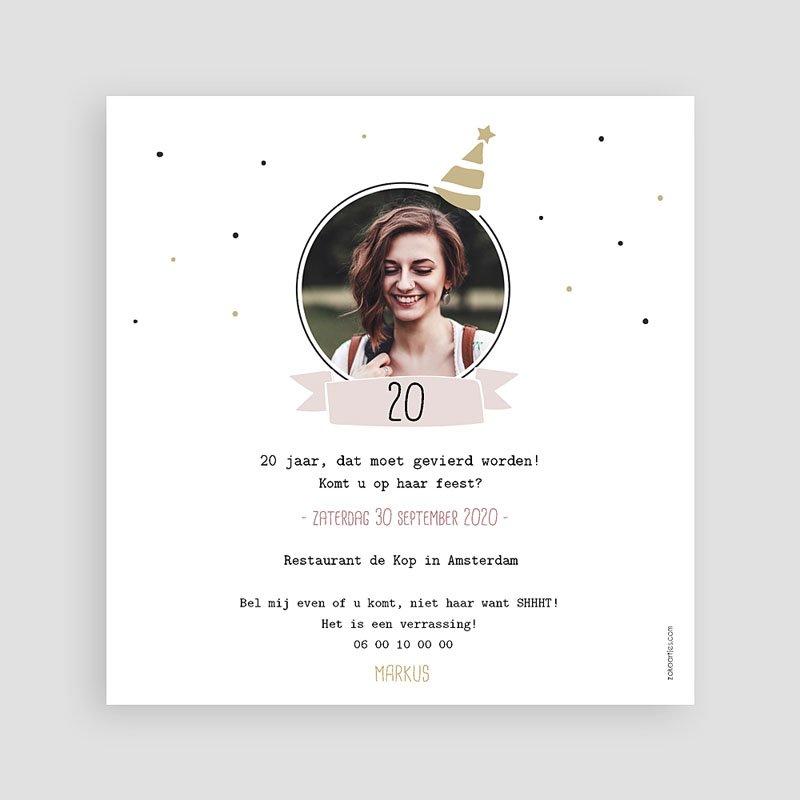 Meerderjarig Uitnodigingen Verjaardag Her birthday ! pas cher