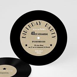 Uitnodiging Anniversaire adulte Vinyl Lp